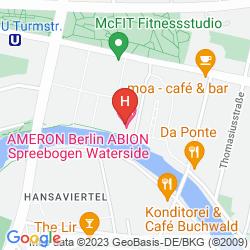 Mapa AMERON HOTEL ABION SPREEBOGEN WATERSIDE