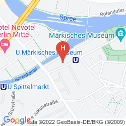 Mapa ART'OTEL BERLIN-MITTE, BY PARK PLAZA