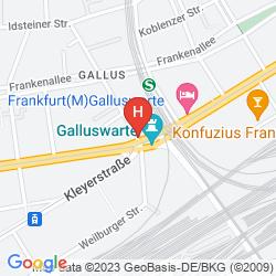Mapa AN DER GALLUSWARTE