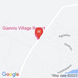 Mapa GIANNIS VILLAGE APARTMENTS