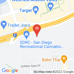 Mapa SHERATON SAN DIEGO MISSION VALLEY