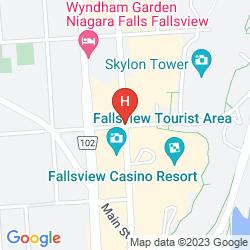 Mapa HILTON NIAGARA FALLS