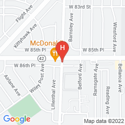 Mapa HOLIDAY INN EXPRESS LOS ANGELES - LAX AIRPORT