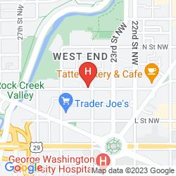 Mapa FAIRMONT WASHINGTON, D.C., GEORGETOWN