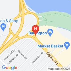 Mapa FOUR POINTS BY SHERATON BOSTON LOGAN AIRPORT