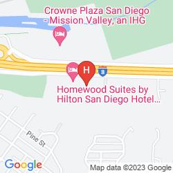 Mapa HAMPTON INN SAN DIEGO/MISSION VALLEY