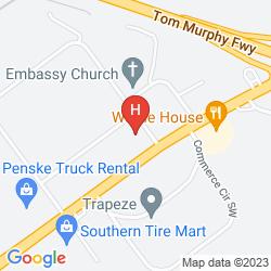 Mapa RED ROOF INN ATLANTA SIX FLAGS 793 HOTEL