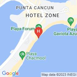 Mapa CANCUN CLIPPER CLUB