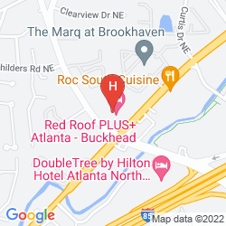 Mapa RED ROOF INN PLUS ATLANTA - BUCKHEAD
