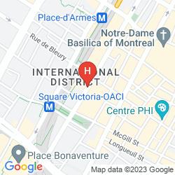 Mapa INTERCONTINENTAL MONTREAL