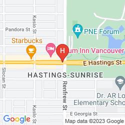Mapa ATRIUM INN VANCOUVER