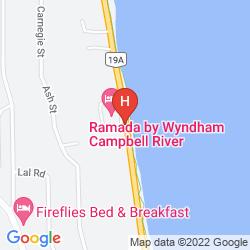 Mapa RAMADA CAMPBELL RIVER