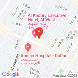 Mapa AL KHOORY EXECUTIVE HOTEL
