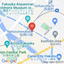 Mapa FIRST CABIN HAKATA
