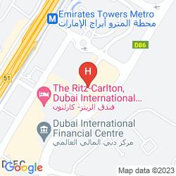 Mapa THE RITZ-CARLTON, DUBAI INTERNATIONAL FINANCIAL CENTRE