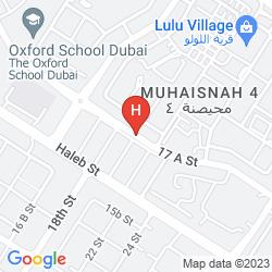 Mapa TULIP INN AL QUSAIS DUBAI SUITES
