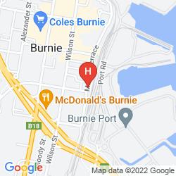 Mapa BURNIE CITY APARTMENTS