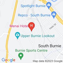 Mapa THE MENAI HOTEL MOTEL