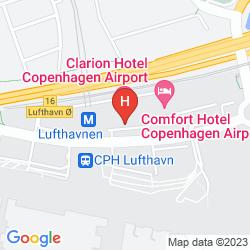 Mapa CLARION HOTEL COPENHAGEN AIRPORT