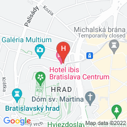 Mapa IBIS BRATISLAVA CENTRUM