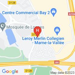 Mapa PREMIÈRE CLASSE MARNE LA VALLÉE - TORCY