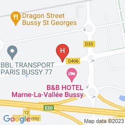 Mapa B&B HÔTEL MARNE LA VALLÉE