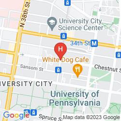 Mapa SHERATON PHILADELPHIA UNIVERSITY CITY