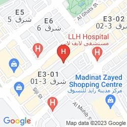 Mapa DOWNTOWN PLAZA HOTEL APARTMENTS