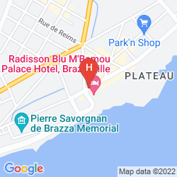 Mapa RADISSON BLU M'BAMOU PALACE