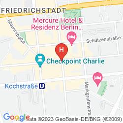 Mapa MERCURE HOTEL & RESIDENZ BERLIN CHECKPOINT CHARLIE