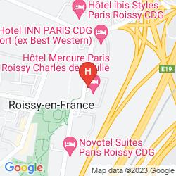 Mapa MERCURE PARIS ROISSY CHARLES DE GAULLE