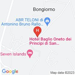 Mapa BAGLIO ONETO DEI PRINCIPI DI SAN LORENZO - WINE RESORT