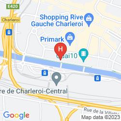 Mapa IBIS CHARLEROI CENTRE GARE