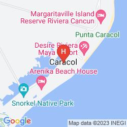 Mapa BREATHLESS RIVIERA CANCUN RESORT & SPA - ALL INCLUSIVE