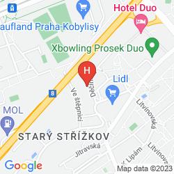 Mapa A&O PRAG METRO STRIZKOV