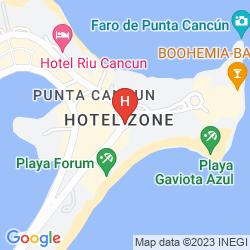 Mapa KRYSTAL CANCUN