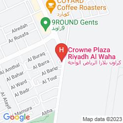 Mapa TIARA HOTEL RIYADH