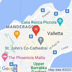 Mapa THE PHOENICIA MALTA