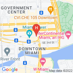 Mapa COURTYARD MIAMI DOWNTOWN/BRICKELL AREA