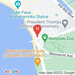 Mapa PARK SHORE WAIKIKI