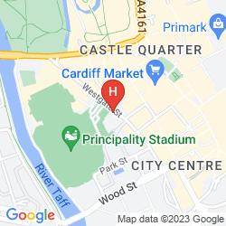 Mapa JURYS INN CARDIFF