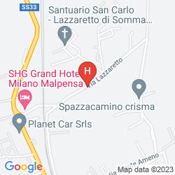 Mapa SHG GRAND HOTEL MILANO MALPENSA