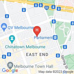 Mapa RYDGES MELBOURNE