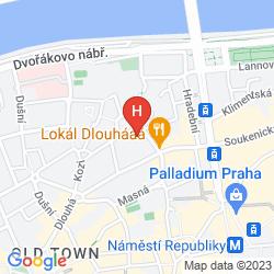 Mapa HASTAL HOTEL PRAGUE OLD TOWN
