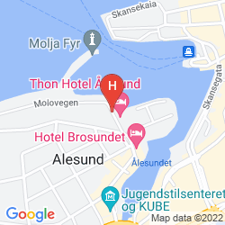 Mapa BROSUNDET, AN ASCEND HOTEL COLLECTION MEMBER