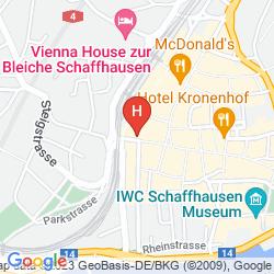 Mapa SORELL HOTEL RÜDEN