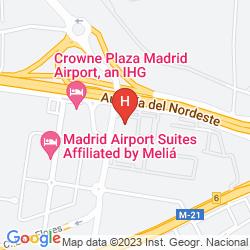 Mapa MADRID MARRIOTT AUDITORIUM HOTEL & CONFERENCE CENTER