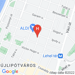 Mapa ADINA APARTMENT HOTEL BUDAPEST
