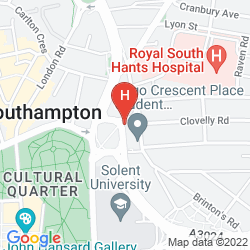 Mapa JURYS INN SOUTHAMPTON