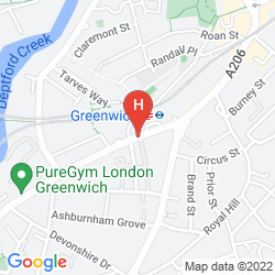 Mapa NOVOTEL LONDON GREENWICH